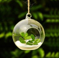 wooden planter - Crystal Glass Hanging Planter Vase Clear Glass Ball Flower Pots Size M Diameter cm For Home Office Yard Decoration