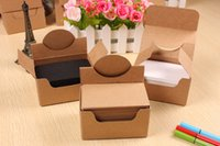 Wholesale 100 Kraft Paper Card Message Memo Wedding Party Gift Thank You Cards Label Bookmarks Greeting Papel Kraft Brown White