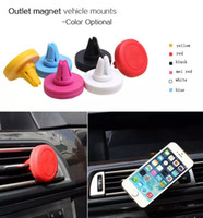 Wholesale Auto Car Holder Mini Air Vent Outlet Magnet vehicle mount Magnetic mobile Phone Holder Universal For car holder box packing