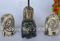 Wholesale L040 Tibet hand carved bone Incense stick lovely elephant Incense stand mix order