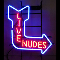 Wholesale NEW LIVE NUDES NEON SIGN REAL GLASS TUBE BEER BAR PUB Neon Light Signs store display