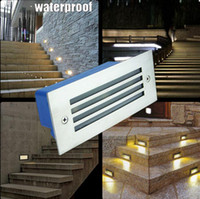 Wholesale Waterproof W LED underground light lamps recessed buried floor lamp outdoor Landscape stair step wall lighting AC85 V