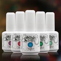 gelish polish - Gelish Long lasting Soak Off LED UV Gel Nail Polish Nail Art Colors Nail Polish Foundation Top It Off