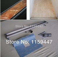 floor tile - 900mm quot TILE INSERT quot Stainless Steel Linear Shower Drain Horizontal Drain Floor Waste Tile Insert Deodorant floor drain