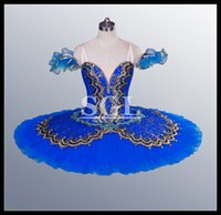 Cheap Free Shipping Adult Stage Costumes Classical Ballet Tutu Skirt Dance Blue Tutu Ballet Professional For Sale Kids Child Women AT1057C