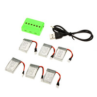 Wholesale 6Pcs V mAh mAh mAh mAh Lipo Battery for Hubsan X4 H107 H107L H107C H107D RC Quadcopter with X6 Charger