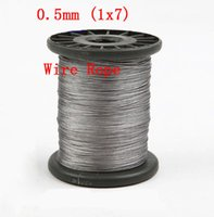 Wholesale 0 mm Stainless Steel Wire Rope Fishing wire Structure m
