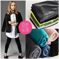 childrens leggings - Girls Spring Sweet Candy Color Velvet Fashion Leggings Childrens Hot Sale Pencil Pants