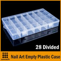 Wholesale Clear Plastic Nail Art Rhinestone Gems Crystal Beads Craft Divided Storage Case Box Container Transparent