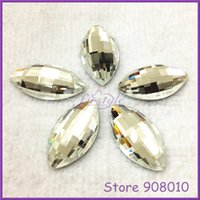 Wholesale 100pcs Crystal Clear x10mm x15mm x12mm x16mm x20mm x25mm Navette Faceted Flat Back Chessboard Glass Crystal Stones