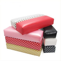 beauty hands holders - BEAUTY Nail Art Tool Rectangle Leather Pad Salon Hand Holder Column Cushion Pillow Arm Rest Manicure Tool