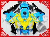 Wholesale NEW TOP quality Injection ABS fairings TANK Bolts gift Fairing For HONDA CBR600 RR CBR600RR F5 NICE BLUE YELLOW COOL