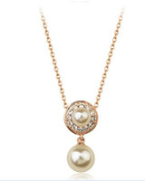 Cheap 2015 High quality gold chain Statement crystal pearl necklaces & pendants costume jewelry