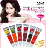 ally mix - Women ally NOVO tearing type Peel off lip gloss tearing lip film lasting makeup magic lipstick colors g By DHL