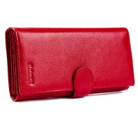 womens wallets - Womens Trifold RFID Blocking Wallet Ladies Pebbled Full Grain Genuine Leather Credit Card Checkbook Security Holder RFID Wallet Red Yellow