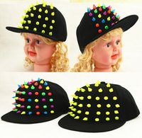 Wholesale New products boys and girls outdoors sunhats korean style fashion baseball hat for kids Hand made color gel nail children caps K02