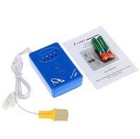 Cheap Flash vibration multifunctional wet reminder wet alarm Baby Enuresis Alarm Blue with Music Vibration Light