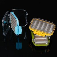 Cheap NEW Waterproof Double Side Opened Design Transparent Slit Foam Fishing Lure Tackle Case Hook Bait Fly Fishing Tackle Box