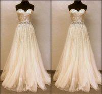 Wholesale Sequin Prom Dresses Sweetheart Neck Sleeveless Backless Zipper Formal Evening Dress for Party Gowns vestido de festa long