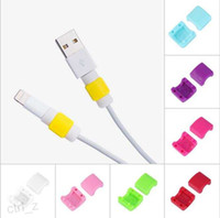 Wholesale 2016 Colorful Data Cable Saver Protector for Apple iphone USB Cable Earphones Cable Protector