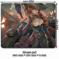 arcade pad - LOL Miss Fortune mouse pad for League of Legends Arcade Candy Cane Cowgirl Mafia Road Warrior Secret Agent