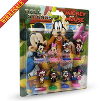 Wholesale High Quality Lovely Mickey Minnie Cartoon Spring dolls Action Figures Stand up dolls Novelty Furnishing articles dolls Creative Gifts