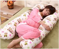 Wholesale Multifunction Pregnant Woman Pillow Protecting Waist Breastfeeding Maternity Total Body Upscale PEP PP Cotton U Shaped Cushion Pillows