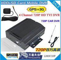 Wholesale 4 channel p video car dvr CCTV ch GPS G Mobile Car DVR