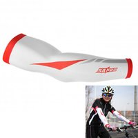 Wholesale New Arrival SAHOO Sunscreen Bike Cycling UV Cuff Arm Warmers Sleevelet Cover Red XL