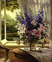 classical painting - Handmade Classical Flower Oil Painting Fine Art Canvas Painting