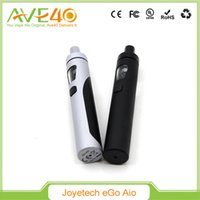 Wholesale Authentic Joyetech eGo AIO Kit All in one Design ml mAh Battery vs Kanger Subvod Eleaf iJust Kit Vape Mods