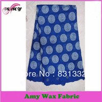 Wholesale cotton embroidery african dot voile textile lace P2801B
