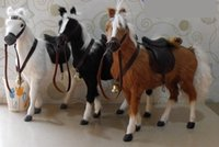 horse decor - realistic looking furry horse decor horse toys for kids fairy garden miniature horse statue horse plush horse art