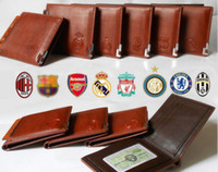 football cards - NEW Real Madrid Brown PU Leather Credit Card Wallets Football Fans Fashion for Men and Women Purse
