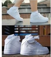 leather shoes for women - 2015 Newest Classic Sneakers All White Aires For Fashionable Men And Women Forces Casual Sport shoes