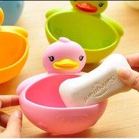 Wholesale Kawaii Duck Soap Box Soap Dish Soap Holder Bathroom Accessories