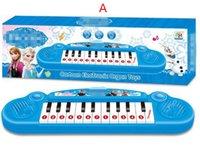 Wholesale Baby Boys Girls Musical Instruments Toys Children Cartoon Anna Elsa Cartoon Electronic Organ keyboard Gifts Kids Piano Song L0801