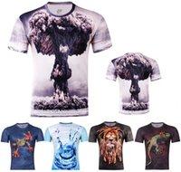 atomic sport - New Fashion Atomic Bomb Frog Printed D T shirts Punk D Short Sleeve Tee Shirt Style Sports Men s tops M XXXXL