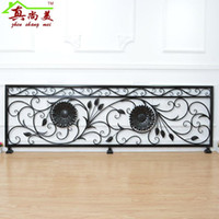 bathroom partition doors - The new European rural partition fence wrought iron balcony railings window door stair handrail customized guardrail