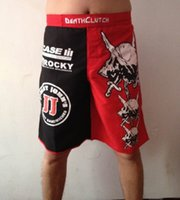 Wholesale 2015 MMA boxing short TOP selling Death Clutch Brock Lesnar UFC Fight Shorts MMA Fight Shorts boxing short