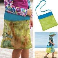 Wholesale 2015 retail Kids Beach Toys Receive Bag Mesh Sandboxes Away All Sand Child Sandpit Storage Shell Net