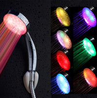 Wholesale Colors hand shower Handing led Shower Head for Bathroom Romantic Automatic Hot Selling LED Lights and hot sales