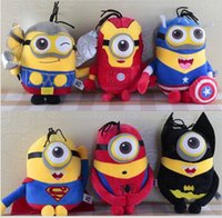 batman stuffed toy - 20cm Despicable Me Minions toys doll Avengers Captain America Superman Spider Man Batman Plush Toys Stuffed Plush Animals