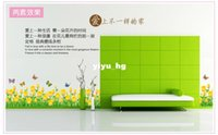 Wholesale new fashion products Dream Garden home decorative wall sticker decals Tulips Fencer ZYPB