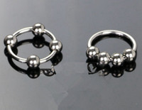 Wholesale 4 beads metal cockring penis cock rings fetish adult sex toys for men male pleasure products MA CR01