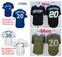 basketball jerseys toronto - 2016 new Josh Donaldson jersey Toronto Blue Jays th Anniversary baseball support mixed order Basketball football hockey