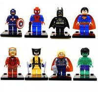 Wholesale New Super Heroes Series Action Toy Figures Minifigures Blocks DIY Building Toys IQ Exercise Figures A3