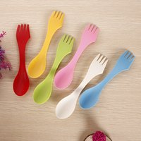 Wholesale Lowest Price Spoon Fork Knife Camping Hiking Utensils Spork Combo Gadget Cutlery Travel Soup Table Spoon set