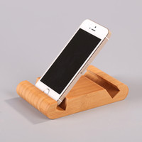 apple office free - Cell phone holder new original creative bamboo hands free pedestal for iphone creating better viewing angle at bedside table office
