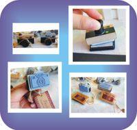 Wholesale Japan and South Korea creative bentoy novel log restore ancient ways small camera design seals for DIY photo album